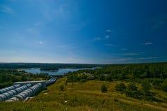Centrale d'énergie hydraulique images stock