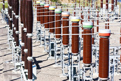 Centrale d'énergie hydroélectrique image libre de droits