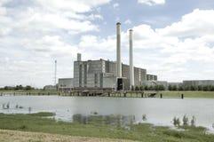 Centrale d'energie de l'électricité d'IJsselcentrale Zwolle photo libre de droits