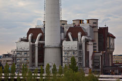 Centrale d'incinération Photographie stock libre de droits