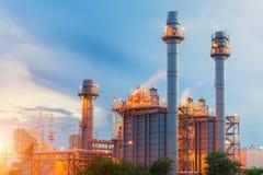 Centrale dans la centrale pétrochimique image libre de droits