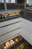 Centrale de Bibliotheek binnenlandse ontwerpen van Seattle Stock Afbeeldingen