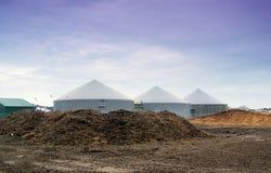 Centrale de biogaz Photo libre de droits