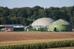 Centrale de biogaz. Photographie stock
