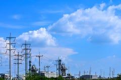 Centrale de biomasse Images stock