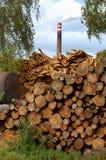 Centrale de biomasse Photographie stock