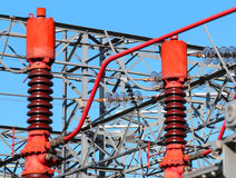 Centrale de briseurs pour la production de l'énergie hydroélectrique Photos libres de droits