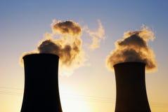 Centrale de charbon Images stock