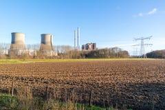 Centrale de Clauscentrale dans Maasbracht, Pays-Bas Photos libres de droits