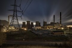 Centrale de Ferrybridge C, Yorkshire, R-U photographie stock libre de droits