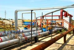 Centrale de gaz de pouvoir photographie stock