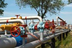 Centrale de gaz de pouvoir image libre de droits