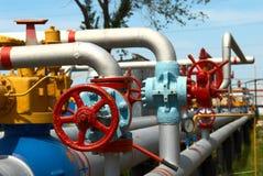 Centrale de gaz de pouvoir photo libre de droits