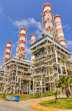 Centrale de gaz naturel photographie stock libre de droits
