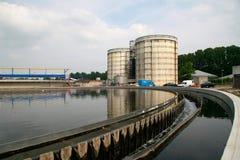 Centrale de nettoyage d'eaux résiduaires Photographie stock libre de droits