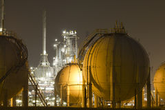 centrale de Pétrole-raffinerie Photographie stock libre de droits