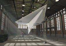 Centrale de papier de fabrication Photos libres de droits