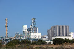 Centrale de raffinerie de pétrole Photo libre de droits