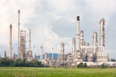 Centrale de raffinerie de pétrole Image stock