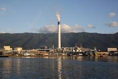 Centrale de raffinerie industrielle Photo stock