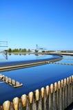 Centrale de traitement des eaux résiduaires. image stock
