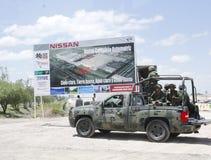 Centrale de véhicule neuve de Nissans au Mexique Image stock