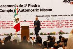Centrale de véhicule neuve de Nissans au Mexique images stock
