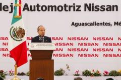 Centrale de véhicule neuve de Nissans au Mexique photos libres de droits