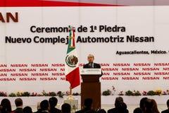 Centrale de véhicule neuve de Nissans au Mexique photographie stock