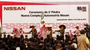 Centrale de véhicule neuve de Nissans au Mexique Photo libre de droits