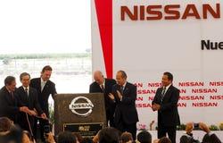 Centrale de véhicule neuve de Nissans au Mexique image libre de droits
