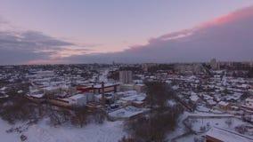 Centrale del latte aerea al tramonto stock footage