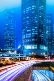 Centrale di Hong Kong alla notte Fotografia Stock