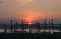 Centrale elettrica Fotografie Stock Libere da Diritti