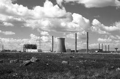 Centrale elettrica abbandonata Fotografie Stock