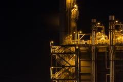 Centrale elettrica alla notte Fotografia Stock