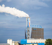 centrale elettrica bruciante residua Fotografia Stock