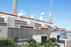 Centrale elettrica Burning del carbone Fotografia Stock