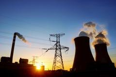 Centrale elettrica del carbone Fotografie Stock Libere da Diritti