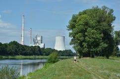 Centrale elettrica del carbone Fotografia Stock