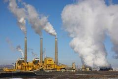 Centrale elettrica del carbone Fotografie Stock
