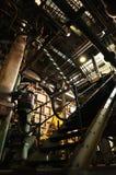 Centrale elettrica del carbone dell'interno Immagini Stock Libere da Diritti