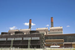 Centrale elettrica del gas Immagini Stock Libere da Diritti
