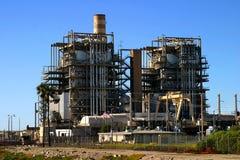 Centrale elettrica del gas naturale Fotografia Stock