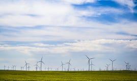 Centrale elettrica del mulino a vento Fotografia Stock Libera da Diritti