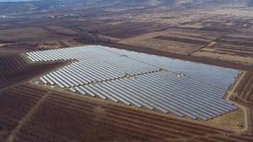 Centrale elettrica del parco del pannello solare video d archivio