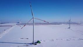 Centrale elettrica del vento stock footage