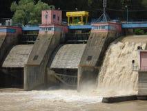 Centrale elettrica dell'acqua Fotografie Stock Libere da Diritti