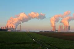 Centrale elettrica della lignite Immagini Stock