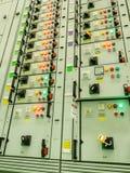 Centrale elettrica della sottostazione di energia elettrica Immagine Stock Libera da Diritti